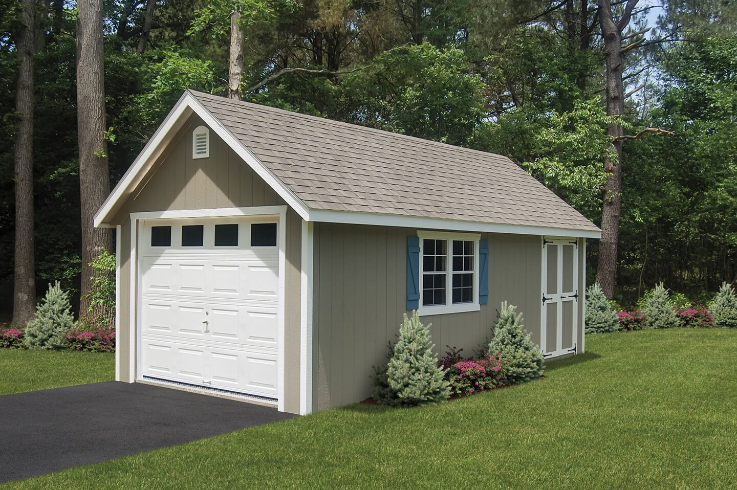custom collection garage pre of car s built amish premade prefab one garages choices