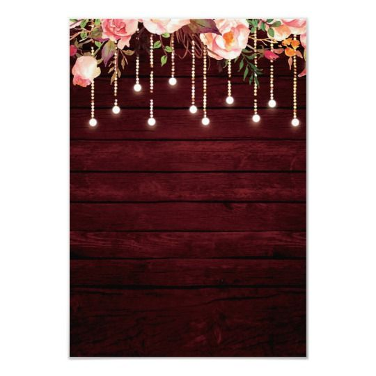Floral Maroon Wood Rustic Wedding Reception Party