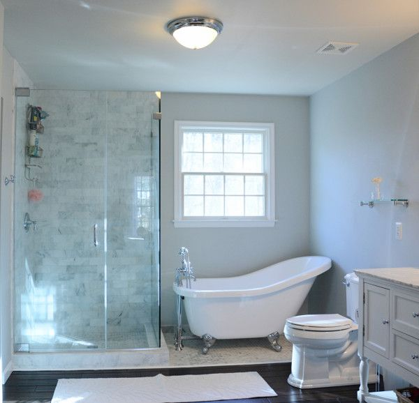 Small Bathroom With Clawfoot Tub Is Full Of Luxury Decorating ... on bathroom remodel tub shower, master bathroom jacuzzi tub and shower, small bathroom with stand up shower,