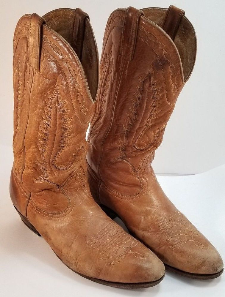 a331fff92e6 BOULET Vintage Brown Leather Cowboy Boots US Men's 11.5 E: $64.00 ...