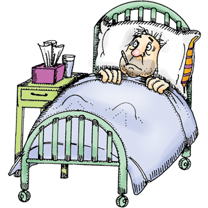 This patient is too sick to get out of bed, looks like he