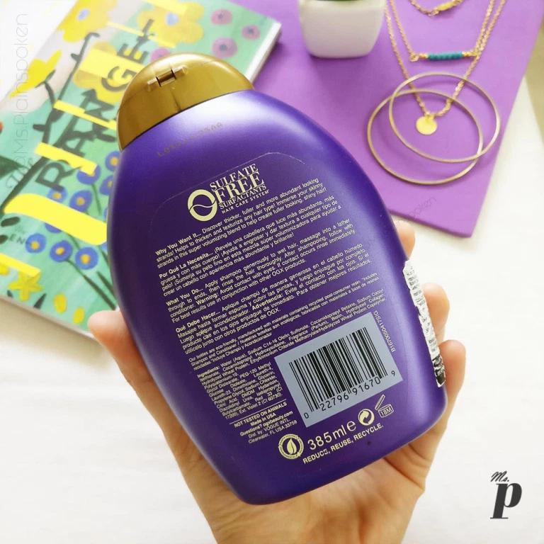 OGX Biotin & Collagen Shampoo Shampoo reviews, Collagen