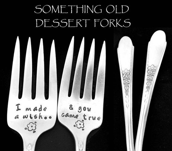 Silverware Wedding Gifts: Hand Stamped Vintage Wedding Forks I Made A Wish Fork