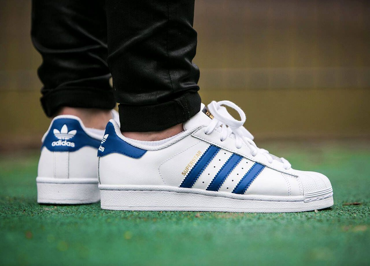 brand new d0210 6836f Adidas Superstar Foundation Kids - WhiteBlue (by worldbox) Get it at Adidas  US  Adidas UK  Finishline