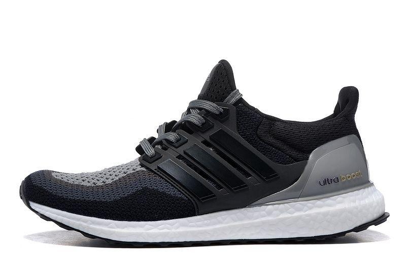 Adidas Ultra Boost B27171 Black Black Gray Runner Shoes Adidas Ultra Boost Men Adidas Ultra Boost Women Ultra Boost Women