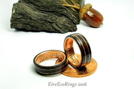 Hey, I found this really awesome Etsy listing at https://www.etsy.com/listing/487165105/wood-wedding-rings-featuring-bog-oak-and