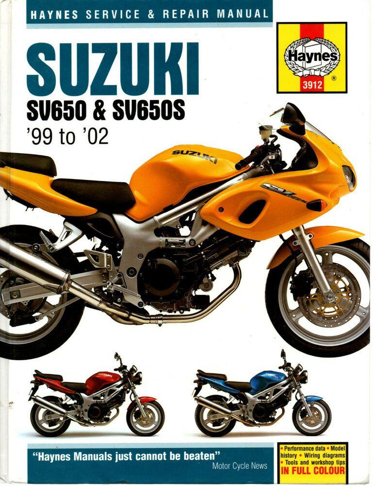 Haynes Suzuki Sv650 Sv650s 1999 To 2002 Service Repair Manual 645cc 3912 Suzuki V 2020 G