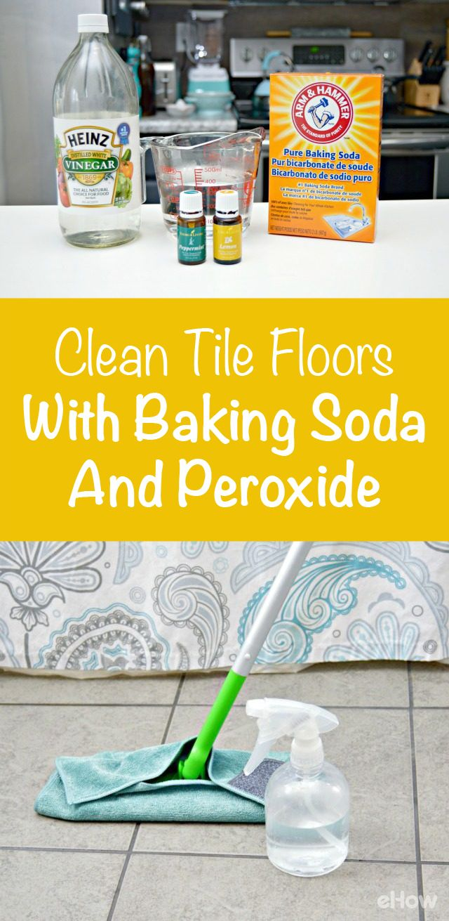 how to clean tile floors with baking soda peroxide