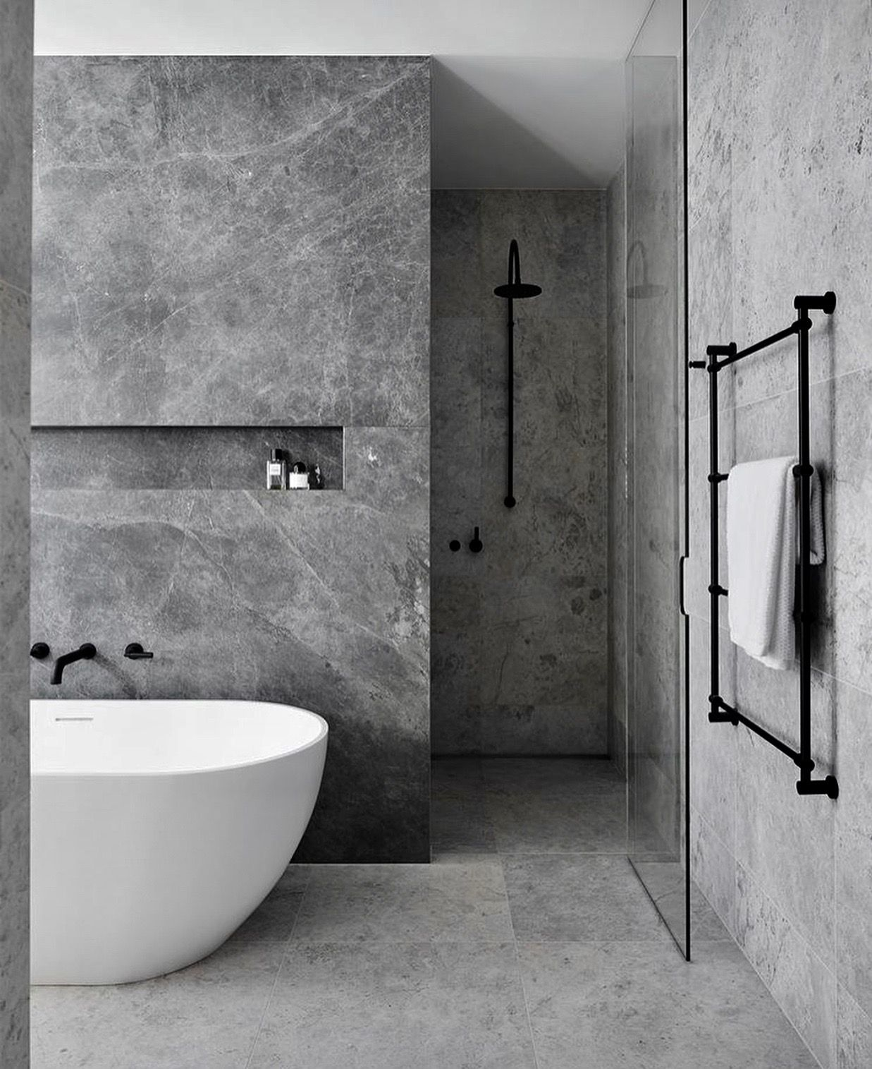 Grey Marble Bathroom Bathrooms