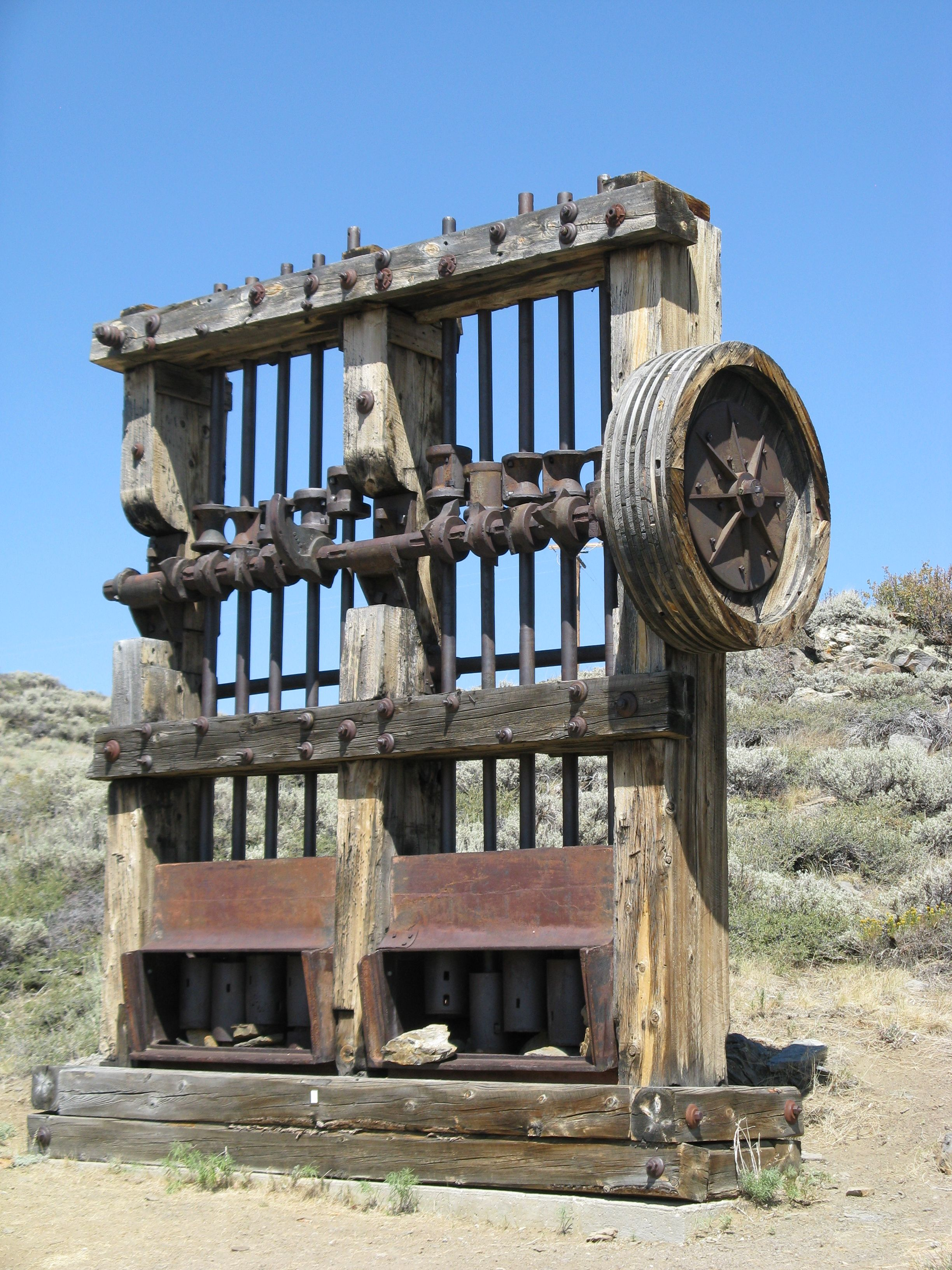 Old Stamp mill used to mine gold ore, have no idea how it