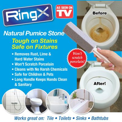 Ring X Pumice Stone Bathroom Stain Remover