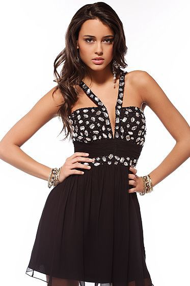 Vestidos de fiesta de noche negro