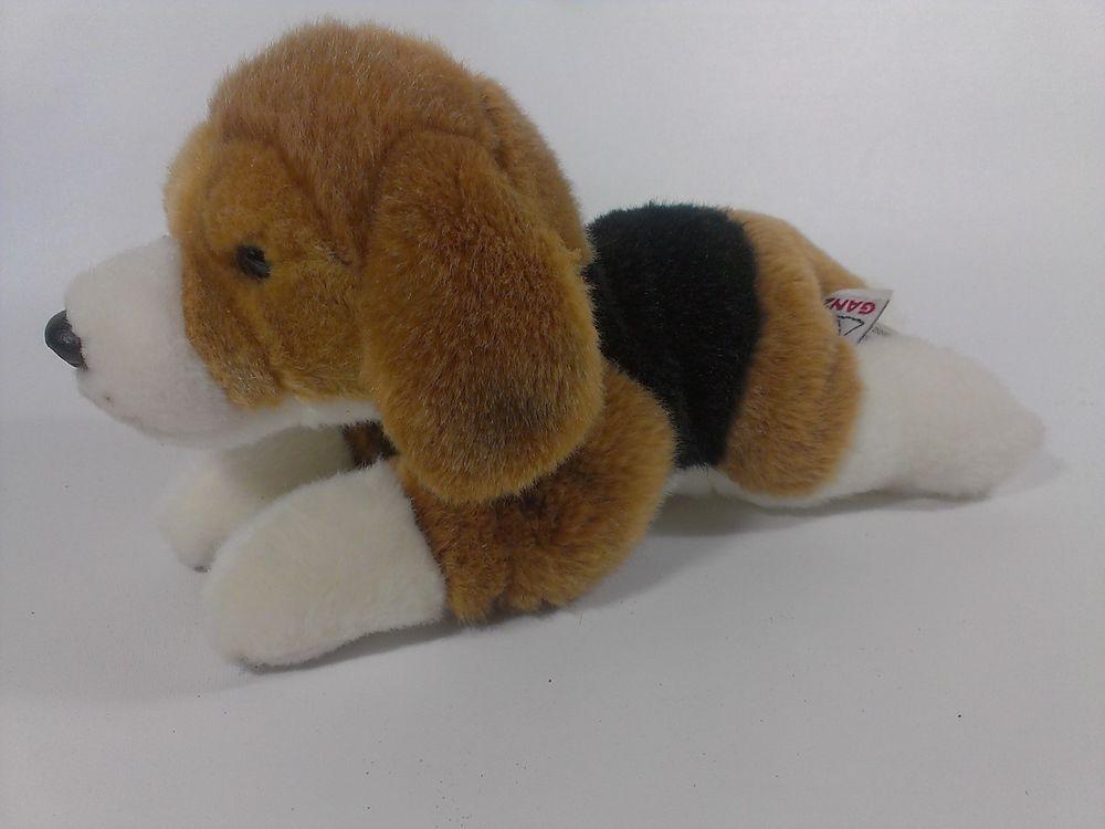Webkinz Gold Signature Beagle Plush Lying Ganz Puppy Dog 10 Brown