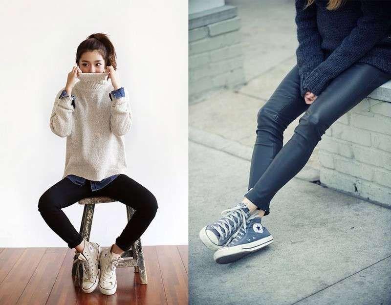 2converse donna jeans