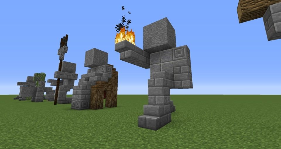 Easy Small Statues Minecraft Crafts Minecraft Statues