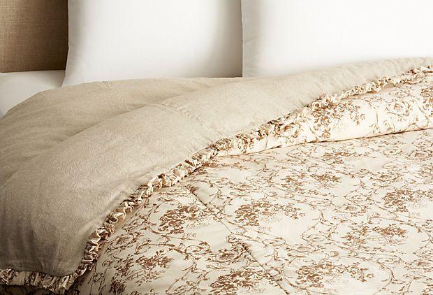 Brown Toile Bedroom Ideas: Queen Connie Toile Duvet, Brown On OneKingsLane.com