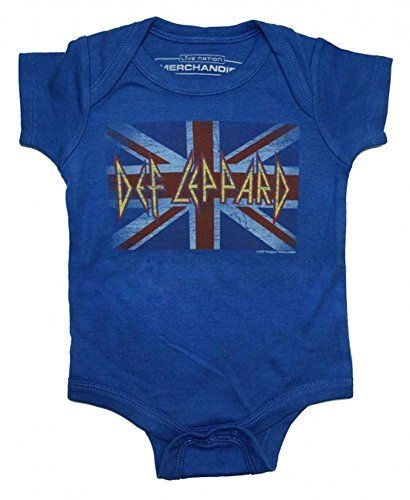 6794225ea Def Leppard Union Jack Unisex Baby Onesie Blue 18 Months ** Details can be  found by clicking on the image.