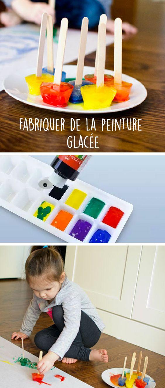 Une activité pour occuper les enfants : la peinture glacée ou peindre avec des glaçons ! La recette
