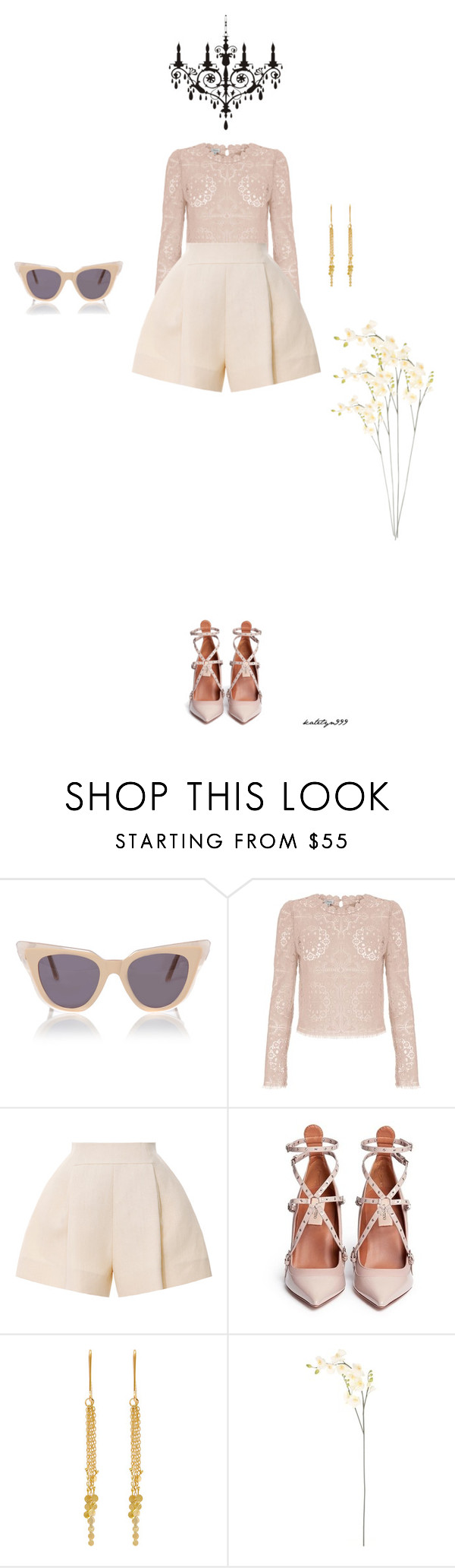 """""""Simple pleasures..."""" by katelyn999 ❤ liked on Polyvore featuring Illesteva, Temperley London, Delpozo, Valentino, Sia Taylor and Sia"""