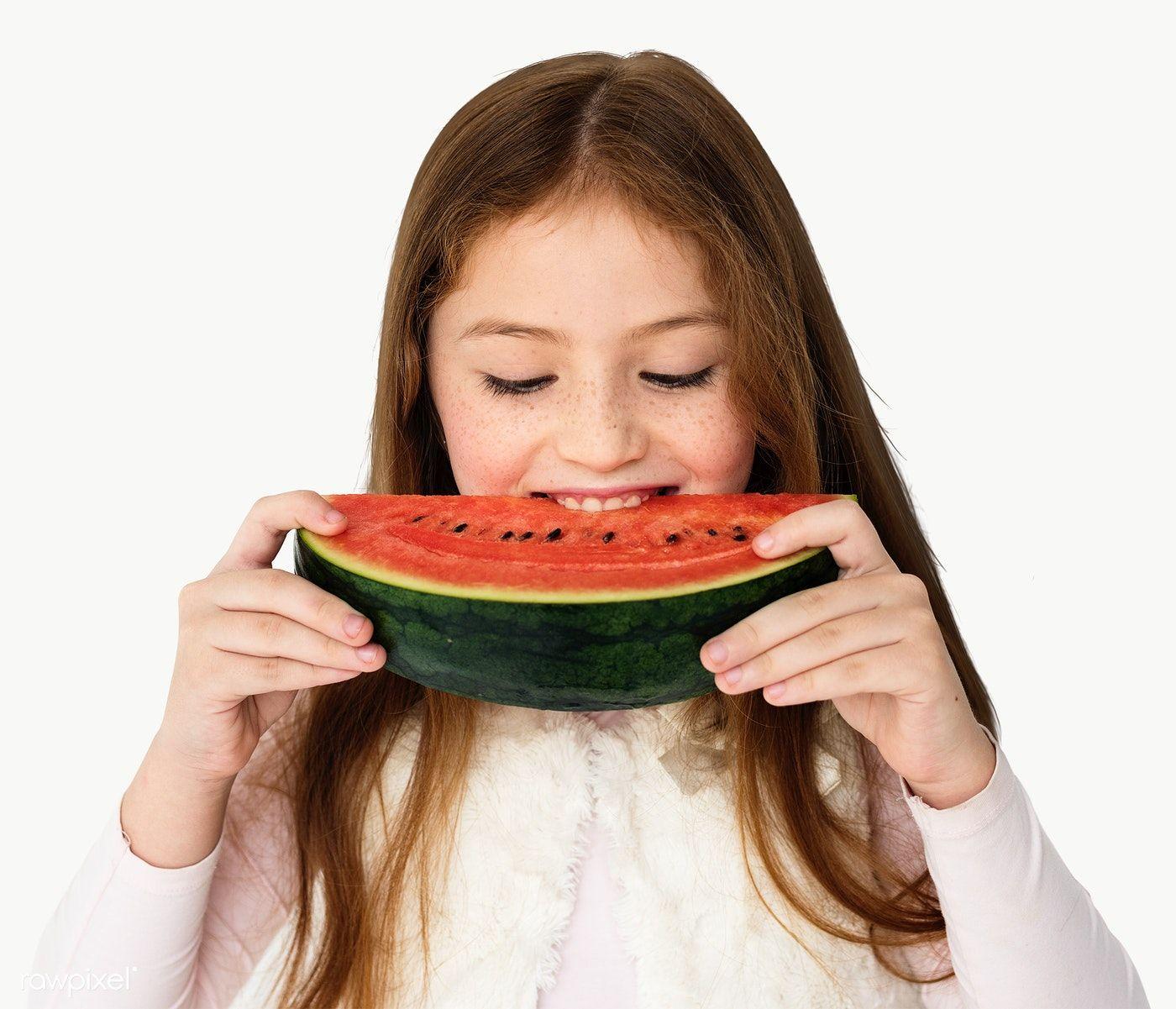Happy Girl Eating A Watermelon Transparent Png Premium Image By Rawpixel Com Hwangmangjoo Eating Watermelon Watermelon Eat