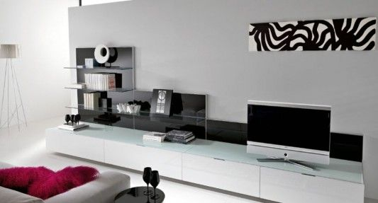 black and white minimalist living room tv cabinet by silvano barsacchi home design inspiration