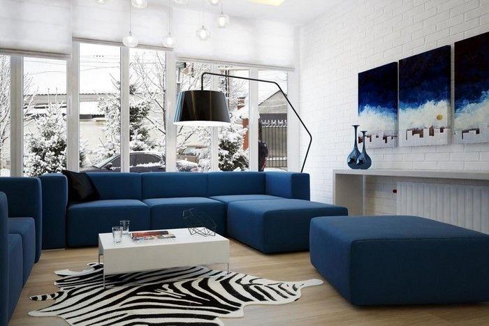 Wohnzimmer Farblich Gestalten Blau Eine Außergewöhnliche Atmosphäre