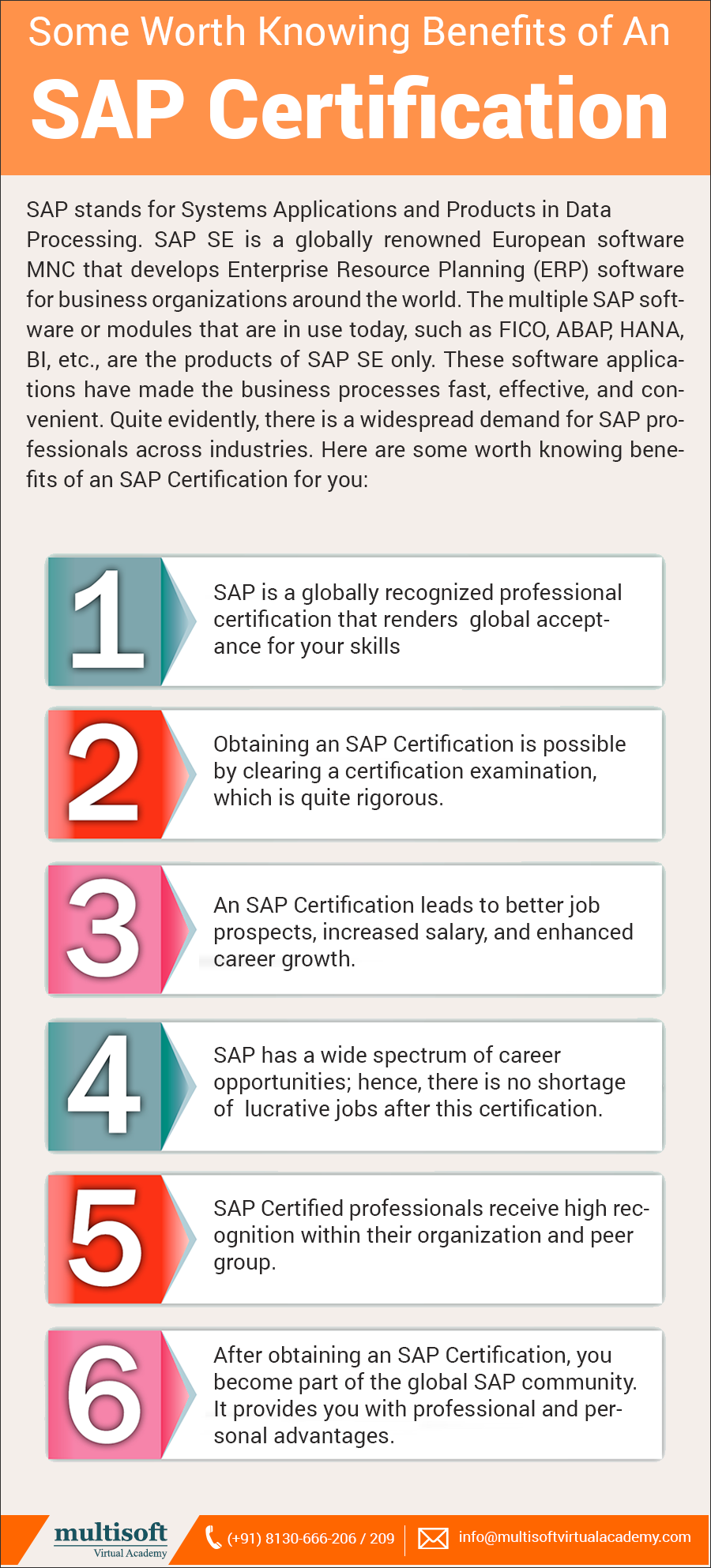 Pin By Multisoft Academy On Sap Certification Certificate Benefit