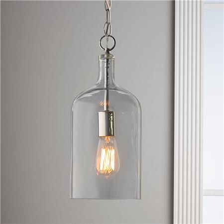 Love this Glass Jug Pendant and it's industrial, modern simplicity. This could go with anything!