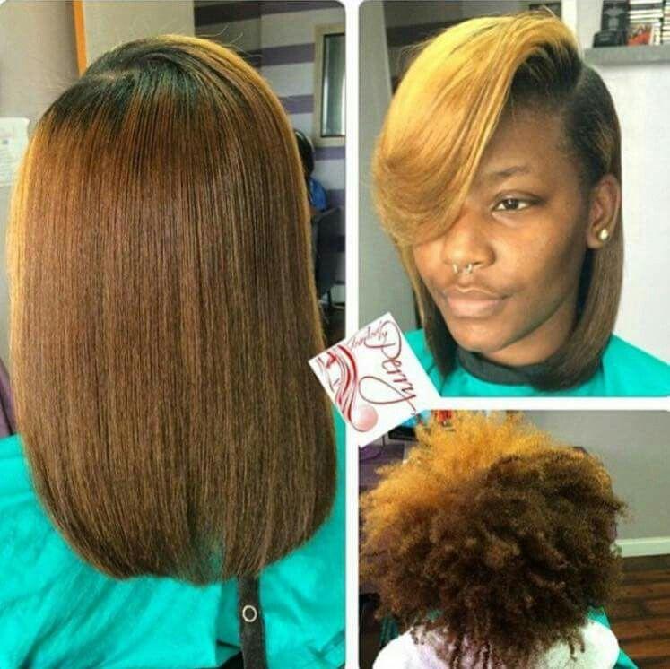 Deep Side Part Silk Press Natural Hair Natural Hair Woman Hair Styles