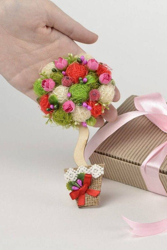 New Home Gift Fridge Magnet Housewariming For Women Kitchen Her Flower Decor Red White Decorative Unusual