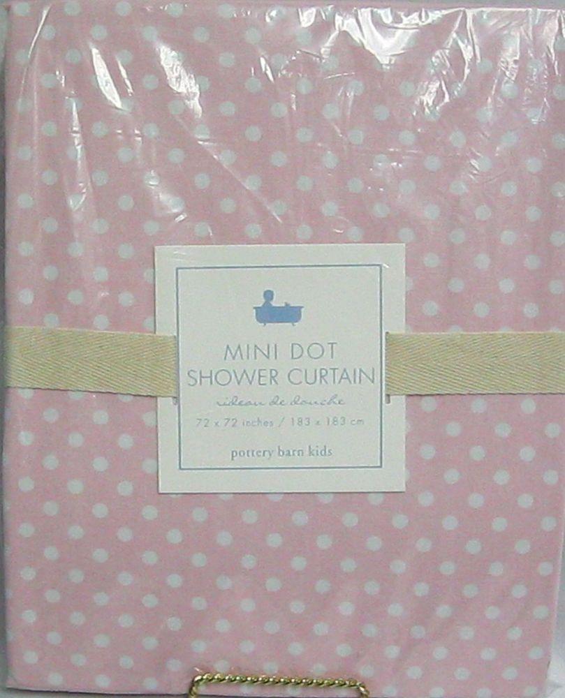 Pottery Barn Kids Shower Curtain Pink/White Fabric Mini