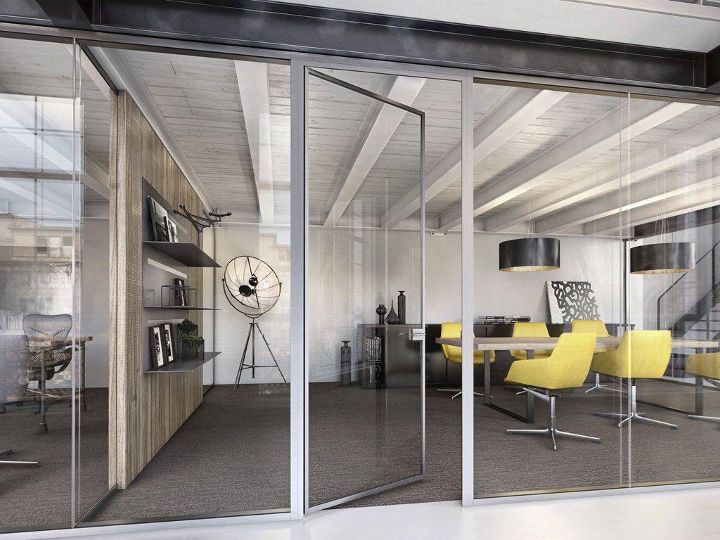 Lama office walls sliding doors swing doors pocket Office partition walls with doors