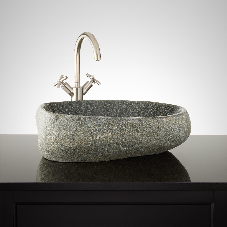 Cimarron Black River Stone Vessel Sink Vessel Sink Sink