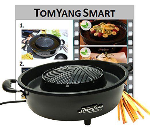 Amazon De Küche | Tomyang Bbq Elektrischer Thai Grill Und Hot Pot Amazon De