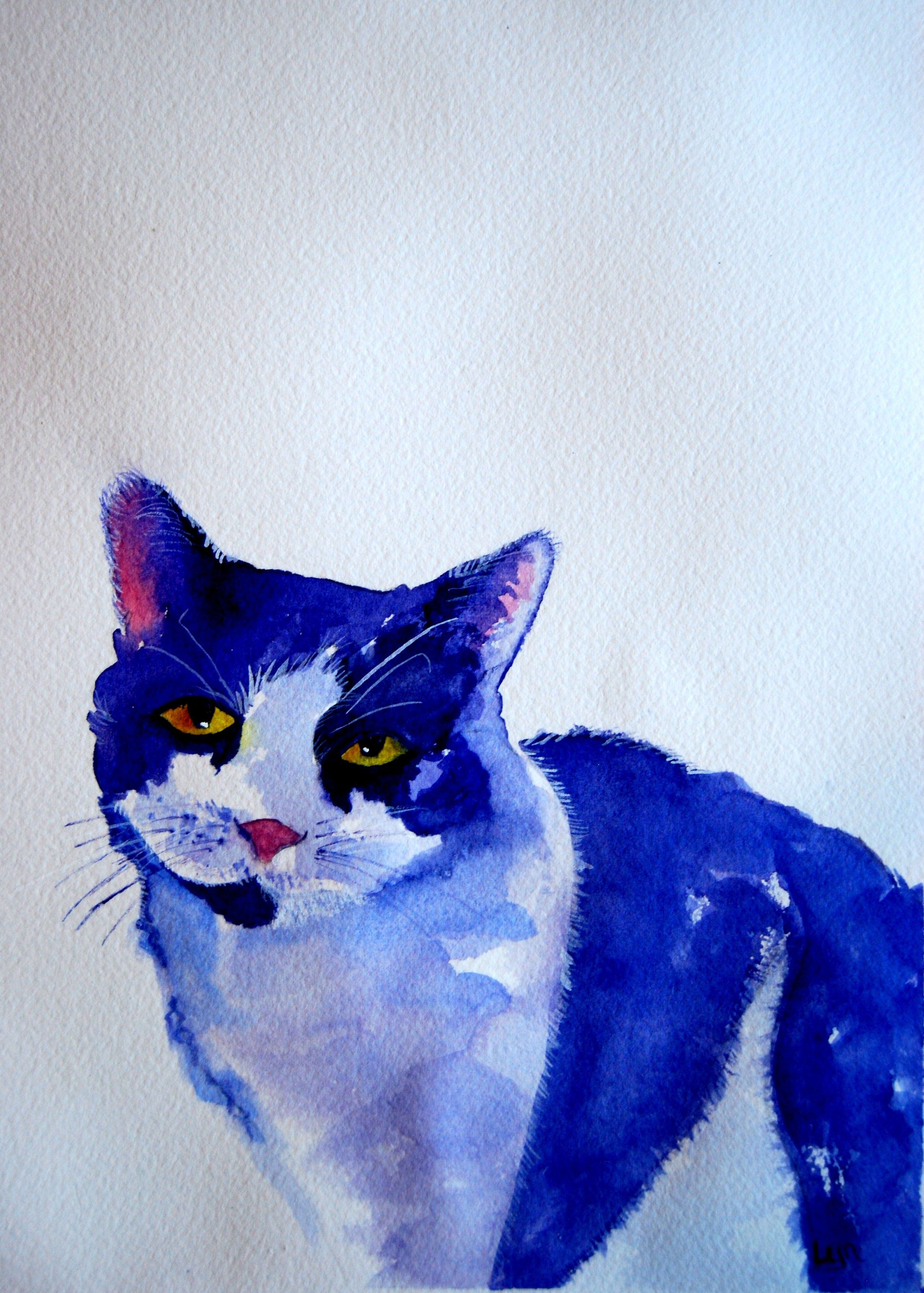 Sarah is one of my cats and she adorns the front of my book Paws 'n Ponder   Watercolor by Lynda Nolte. Paws 'n Ponder painting was juried into the NVAL National Show.