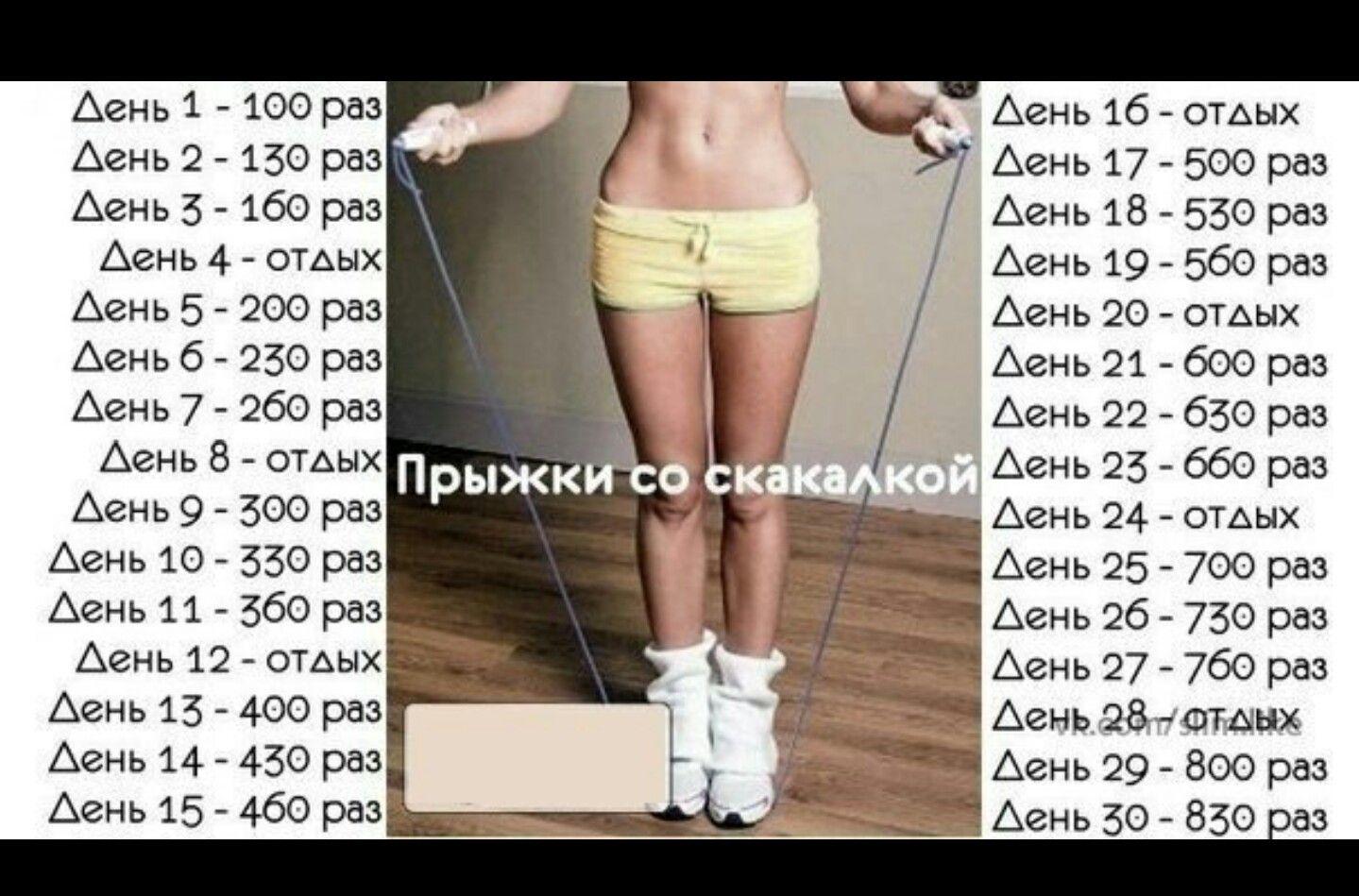 Занятие со скакалкой для похудения