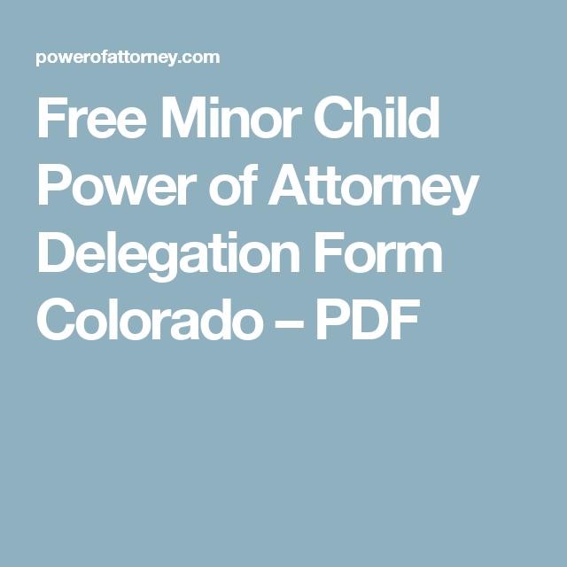 minor power of attorney