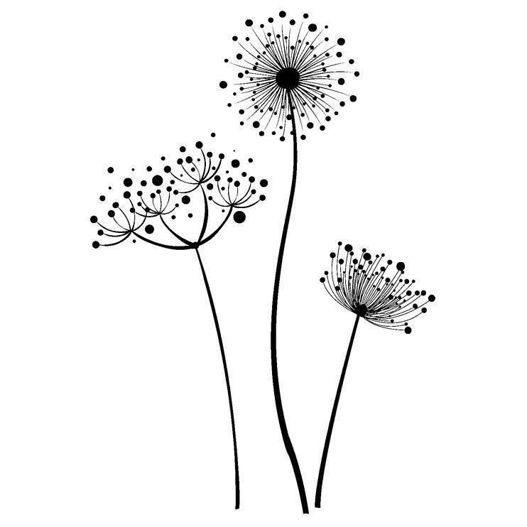 indigoblu stempel  stylised flower  pusteblume