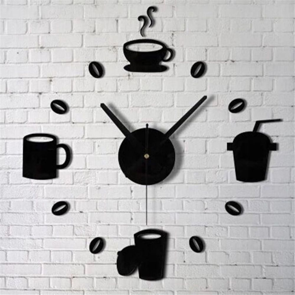 Wall Stickers with Clock for Kitchen Decor  Price: 9.95 & FREE Shipping   #shoplocal #kitchenutensils #kitchengadgets #affordableprice #instagood #instakitchen