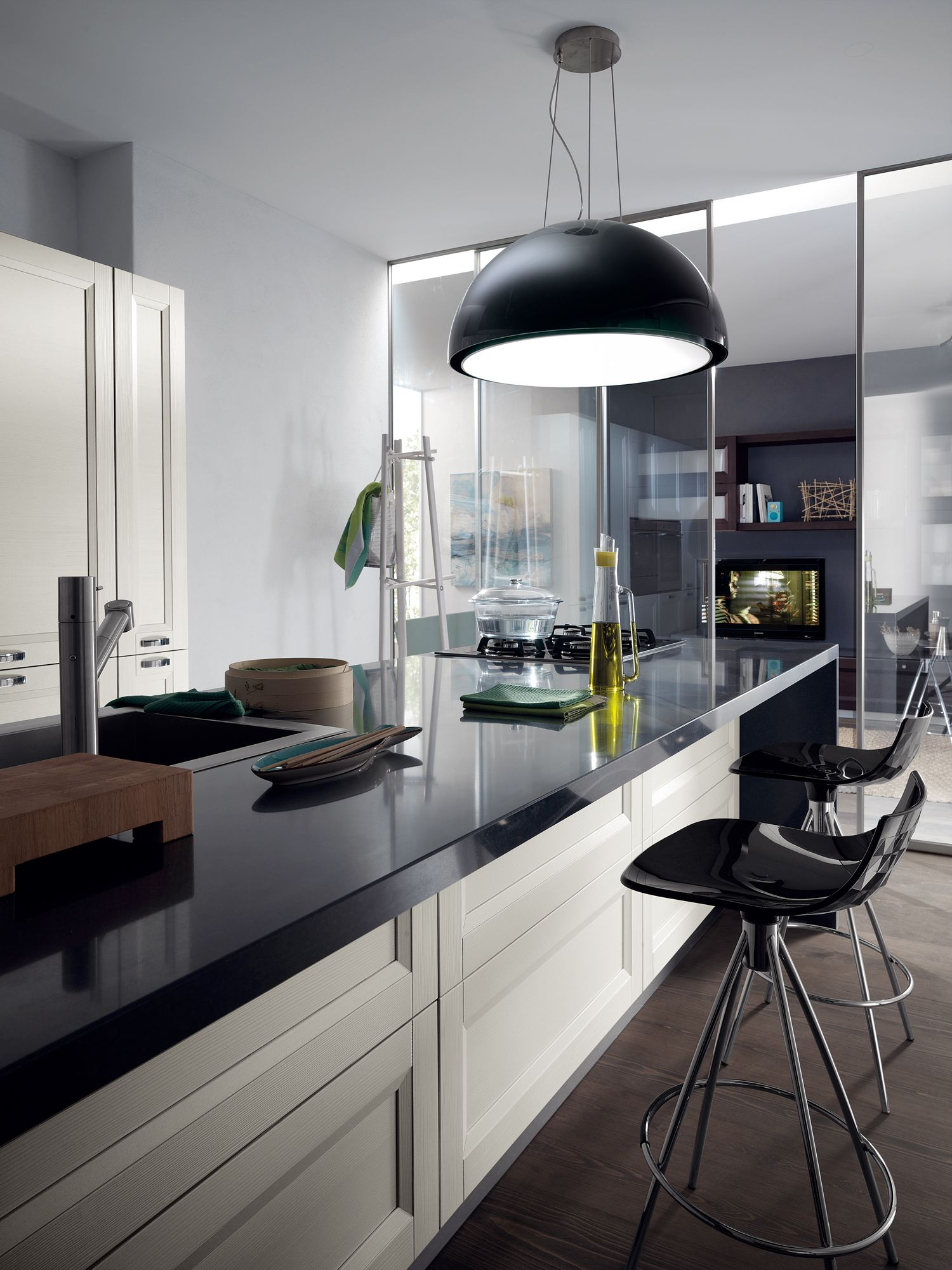 Esprit #kitchen by Scavolini. Open to the rest of the home, the ...