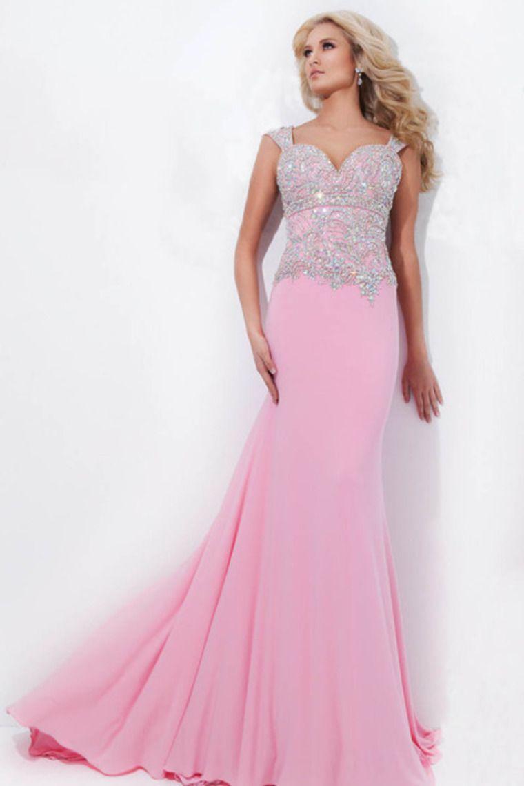 Big Discount Prom Dress Regular Straps Column Pink Color:Lavender ...