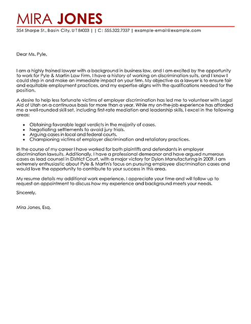 Big Lawyer Cover Letter Example | I ♥ work stuff | Pinterest ...