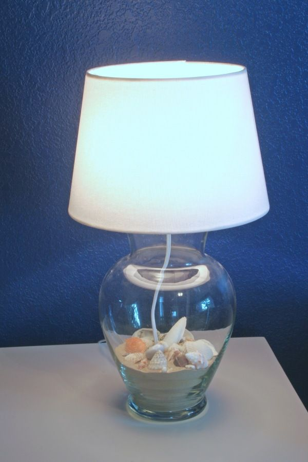 Diy Glass Vase Lamp Filled With Anything You Love Inside