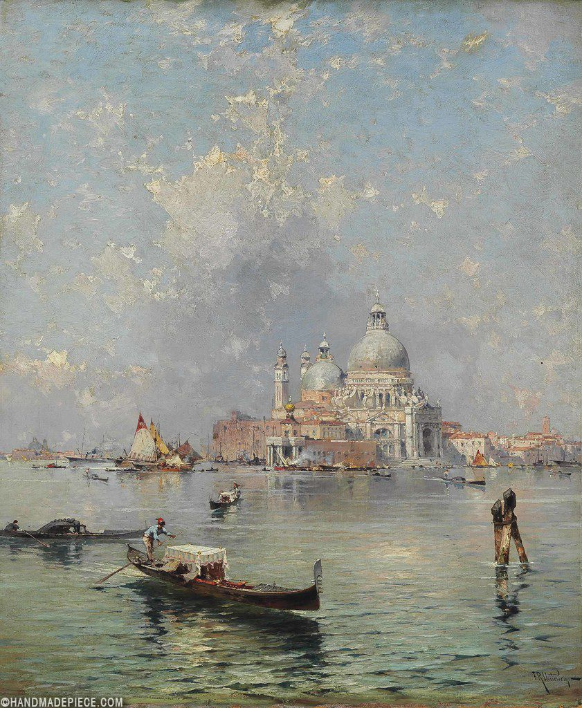2020 的 Gondolas In Front Of The Santa Maria Della Salute Venice 主题