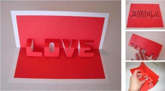Tarjetas De Amor 3d Pop Up 17 Imagenes Siluetas Dibujos Y