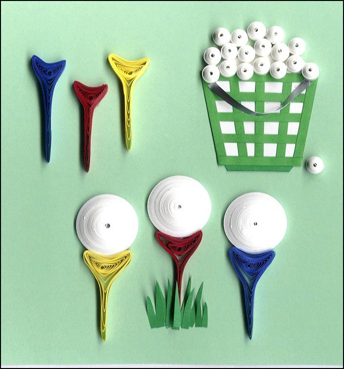 Quilled Golf Elements Paper Quilling Jewelry Paper Quilling