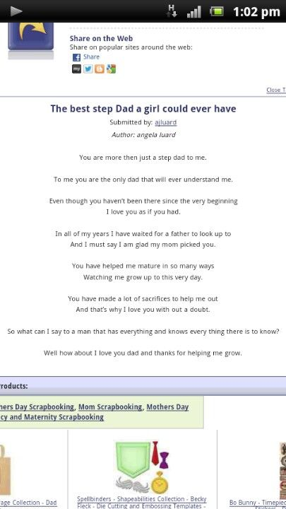 Step dad poem Fatheru0027s day ideas - this is very cute!!! Fathers - new leave application letter format for brother marriage