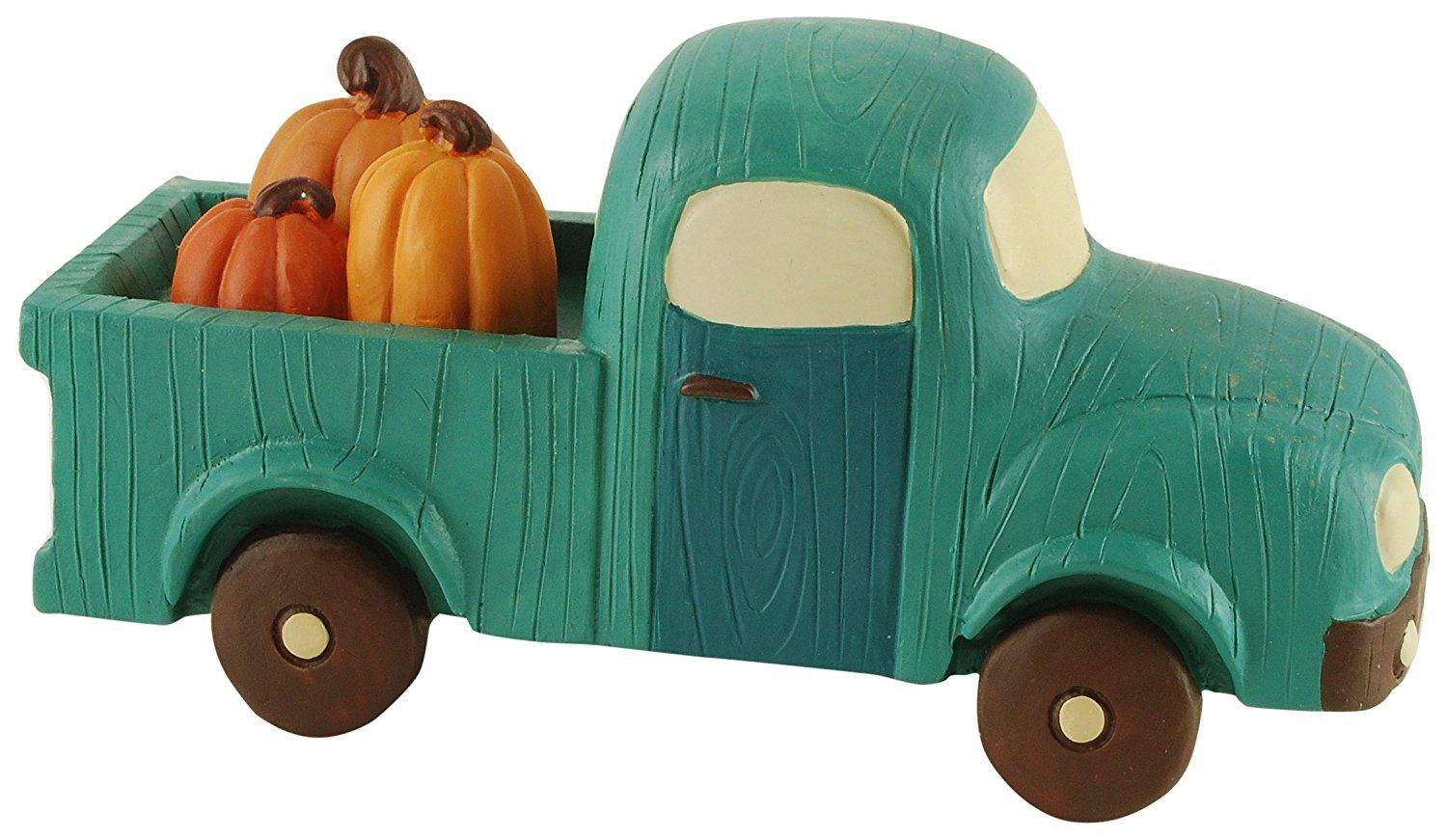 Blossom Bucket Blue Truck with Pumpkins Home