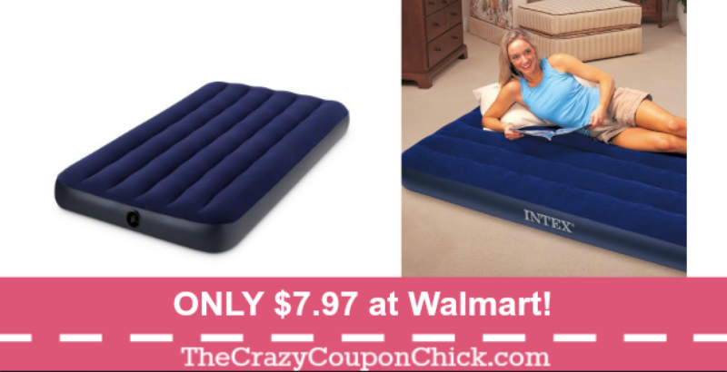 AWESOME Price! Intex Inflatable Air Mattress ONLY 7.97 at