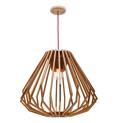 Romano Timber Pendant Light, Ashwood